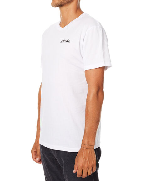 WHITE MENS CLOTHING AFENDS TEES - 01-01-277WHI