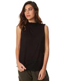 BLACK WOMENS CLOTHING BETTY BASICS SINGLETS - BB557W17BLK