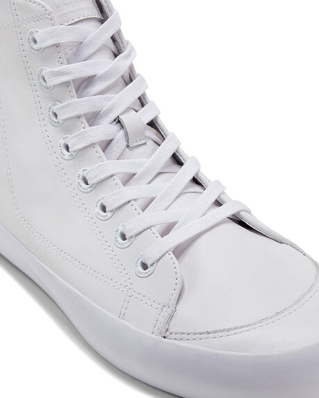 WHITE LEATHER MENS FOOTWEAR VOLLEY SNEAKERS - SSVBL002654M