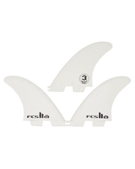 WHITE BOARDSPORTS SURF FCS FINS - FSAM-PG01-TS-RWHI