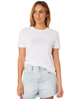 WHITE WOMENS CLOTHING ALL ABOUT EVE TEES - 6405067WHI