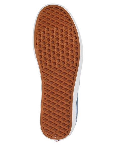 NAVY WHITE WOMENS FOOTWEAR VANS SNEAKERS - SSVN-0EE3NVYW