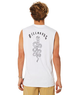 WHITE MENS CLOTHING BILLABONG SINGLETS - 9582501WHT