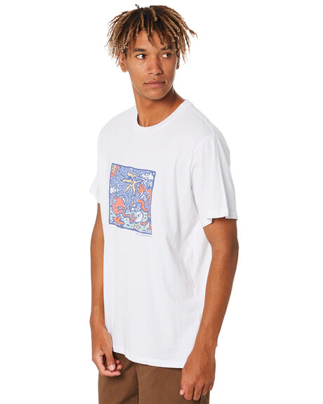WASHED WHITE MENS CLOTHING MISFIT TEES - MT001010WSHWT