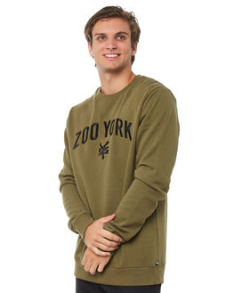 ARMY MENS CLOTHING ZOO YORK JUMPERS - ZY-MFA8133ARMY