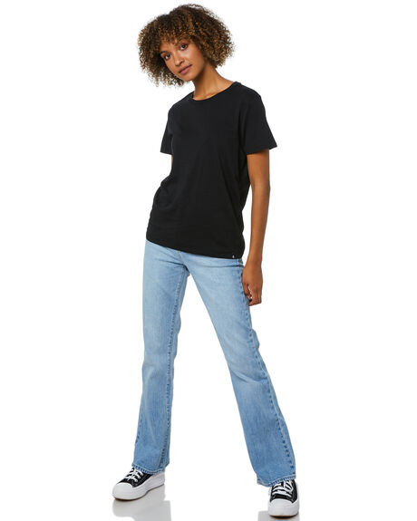 BLACK WOMENS CLOTHING VOLCOM TEES - B3512177BLK