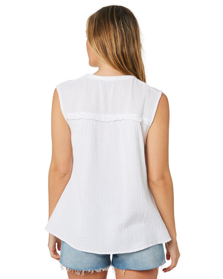 WHITE OUTLET WOMENS SWELL FASHION TOPS - S8202009WHI