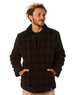 BURGUNDY MENS CLOTHING SANTA CRUZ JACKETS - SC-MJA9127BURG