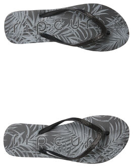 BLACK WOMENS FOOTWEAR RIP CURL THONGS - TGTE490090
