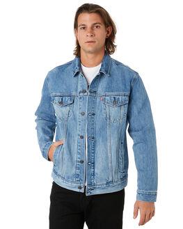 BLUE MENS CLOTHING LEVI'S JACKETS - 72334-0409BLU