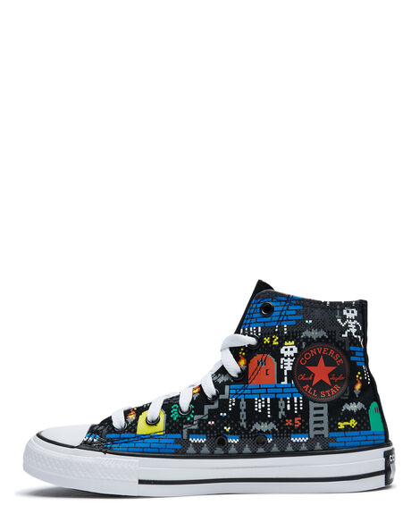 BLACK KIDS BOYS CONVERSE SNEAKERS - 670212BLK