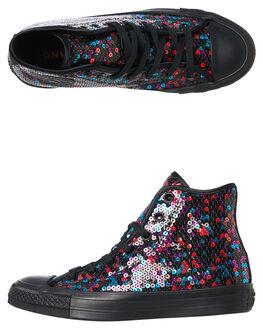 BLACK BLUE CHERRY WOMENS FOOTWEAR CONVERSE SNEAKERS - 562443CMUL