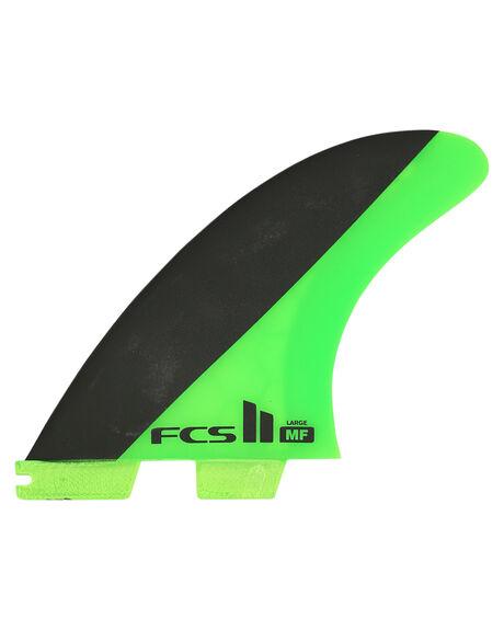 GREEN BLACK BOARDSPORTS SURF FCS FINS - FMFL-PC02-LG-TS-RGNB