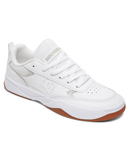 WHITE/WHITE/GUM MENS FOOTWEAR DC SHOES SNEAKERS - ADYS100509-HWG