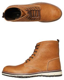 BROWN MENS FOOTWEAR ACADEMY BRAND BOOTS - 18W010BRN
