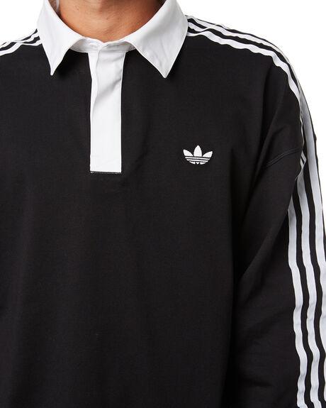 BLACK WHITE MENS CLOTHING ADIDAS SHIRTS - GL9917BKW