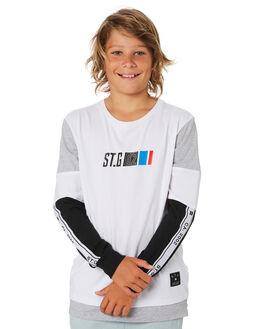 WHITE KIDS BOYS ST GOLIATH TOPS - 2420015WHT
