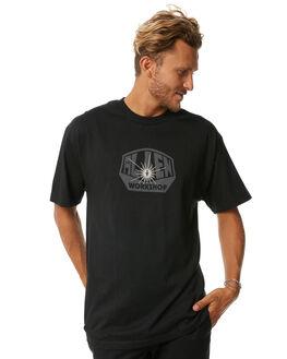 BLACK MENS CLOTHING ALIEN WORKSHOP TEES - OGTBLK
