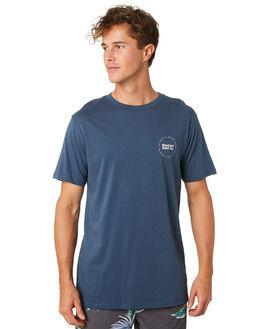SLATE BLUE MENS CLOTHING RIP CURL TEES - CTEQH21115