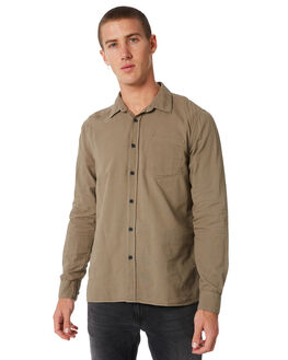 DESERT GREEN MENS CLOTHING NUDIE JEANS CO SHIRTS - 140426C11