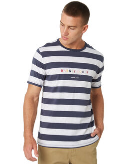 NAVY STRIPE MENS CLOTHING BARNEY COOLS TEES - 132-CC2-NVYST
