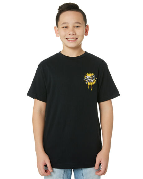 BLACK KIDS BOYS SANTA CRUZ TOPS - SC-YTC9224BLK