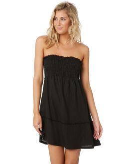 BLACK WOMENS CLOTHING RUSTY DRESSES - DRL1018BLK