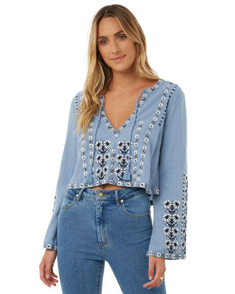 CHAMBRAY WOMENS CLOTHING TIGERLILY FASHION TOPS - T385040CHAM