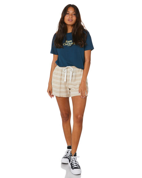 OATMEAL WOMENS CLOTHING RPM SHORTS - 20SW20AOAT