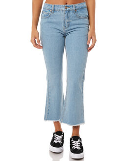 STONE BLUE WOMENS CLOTHING AFENDS JEANS - W181450STBNBL