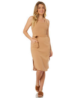 DUSTY PINK WOMENS CLOTHING RUE STIIC DRESSES - WS18-19-DP-CPDPINK