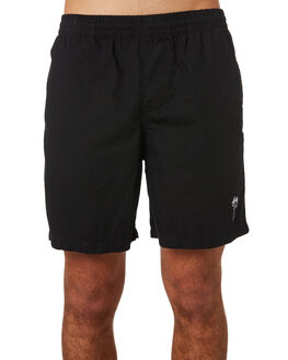 BLACK MENS CLOTHING STUSSY BOARDSHORTS - ST081610BLK
