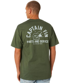 GREEN MENS CLOTHING CAPTAIN FIN CO. TEES - CT184013MGN