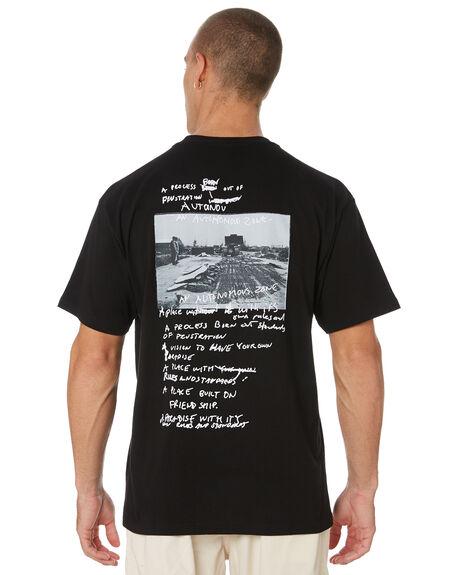 BLACK MENS CLOTHING POLAR SKATE CO. TEES - PSCSTRONG-BLK