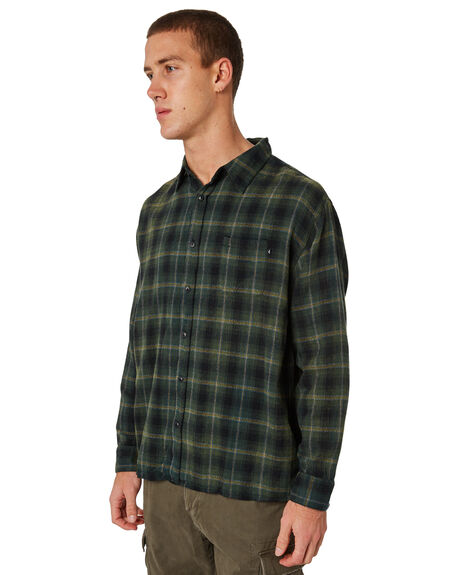 BLACK MENS CLOTHING RUSTY SHIRTS - WSM0830BLK