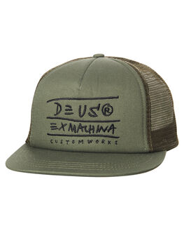 OLIVE MENS ACCESSORIES DEUS EX MACHINA HEADWEAR - DMS77979OLI