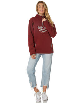 MAROON WOMENS CLOTHING RIP CURL JUMPERS - GFEHQ14370