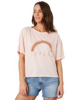 ECHO PINK WOMENS CLOTHING HURLEY TEES - CK0672-610