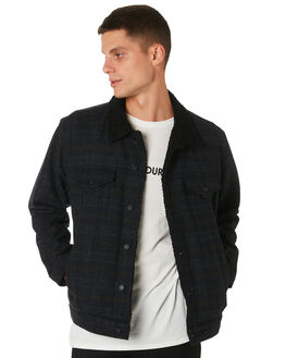 DIRTY BLACK MENS CLOTHING BANKS JACKETS - WJT0046DBL