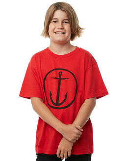 RED KIDS BOYS CAPTAIN FIN CO. TEES - BT172200RED