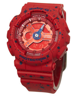 RED  NAVY WOMENS ACCESSORIES BABY G WATCHES - BGA110ST-4ARDNVY