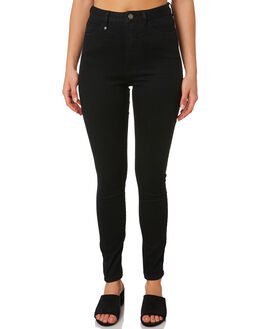 BLACK WOMENS CLOTHING THRILLS JEANS - WTDP-427BBLK
