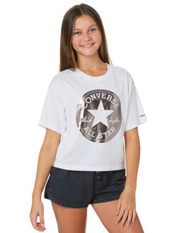 WHITE KIDS GIRLS CONVERSE TOPS - R469656001