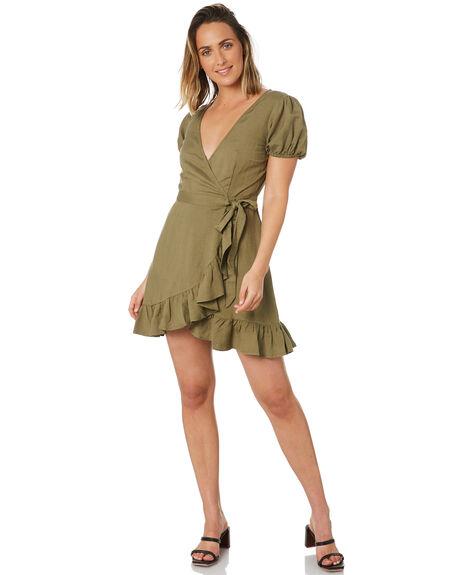 KHAKI OUTLET WOMENS TIGERLILY DRESSES - T303407KHA