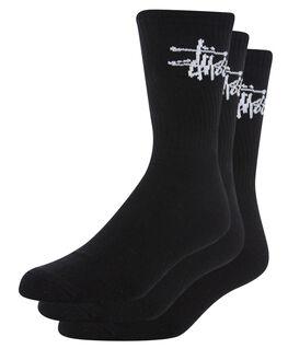 BLACK MENS CLOTHING STUSSY SOCKS + UNDERWEAR - ST791021BLK