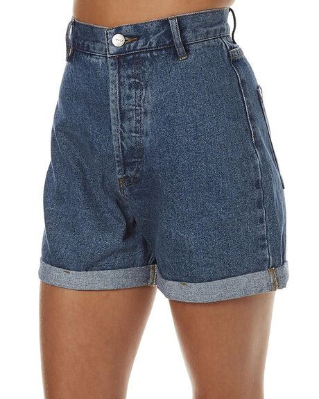 BRIGHT INDIGO WOMENS CLOTHING RVCA SHORTS - R262312ABRGHT