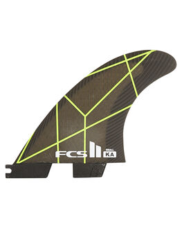 GREEN BLACK SURF HARDWARE FCS FINS - FKAS-PC02-SM-TS-RGNB