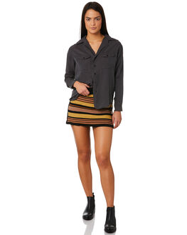BLACK WOMENS CLOTHING AFENDS FASHION TOPS - W184102BLK