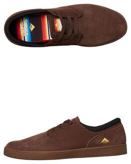 BROWN GUM GOLD MENS FOOTWEAR EMERICA SKATE SHOES - 6102000092-230