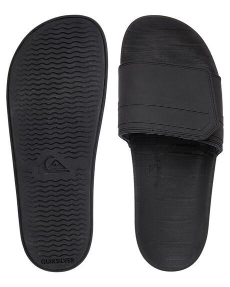 BLACK GREY BLACK MENS FOOTWEAR QUIKSILVER THONGS - AQYL101038-XKSK